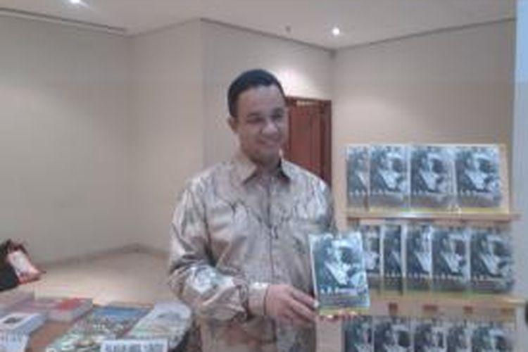 Rektor Universitas Paramadina Anies Baswedan di sela-sela bedah buku biografi A.R Baswedan