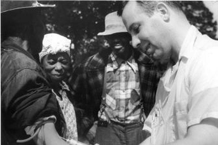 Eksperimen ilmiah sifilis Tuskegee. [National Archive Via Bigthink.com]