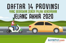 INFOGRAFIK: Daftar 14 Provinsi yang Bebaskan Denda Pajak Kendaraan