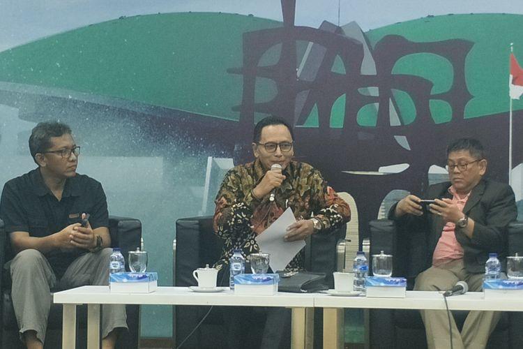 Wakil Ketua Baleg DPR Totok Daryanto dalam sebuah diskusi di Kompleks Parlemen, Senayan, Jakarta, Selasa (9/7/2019).