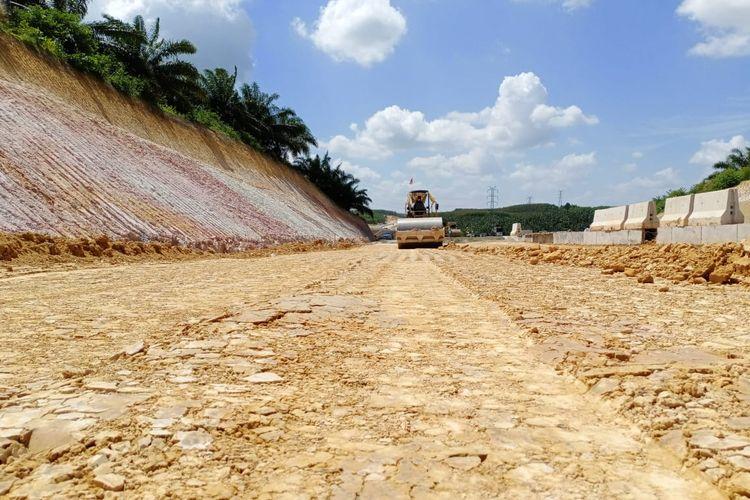 Kondisi Tol Pekanbaru-Dumai Kamis (20/2/2020). Tol sepanjang 131 kilometer ini ditargetkan operasional pada April 2020.