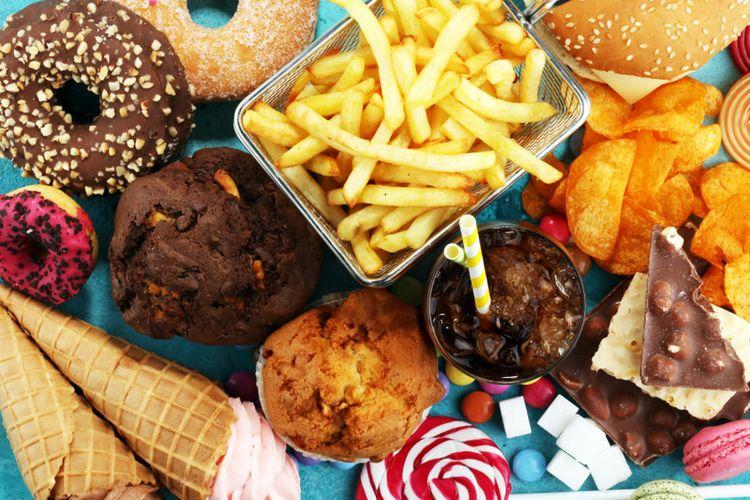 Ilustrasi makanan tidak sehat