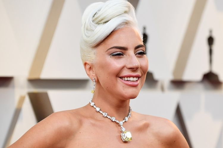Lady Gaga menghadiri Academy Awards 2019 yang digelar di Dolby Theatre, Hollywood, Califronia, Minggu (24/2/2019).