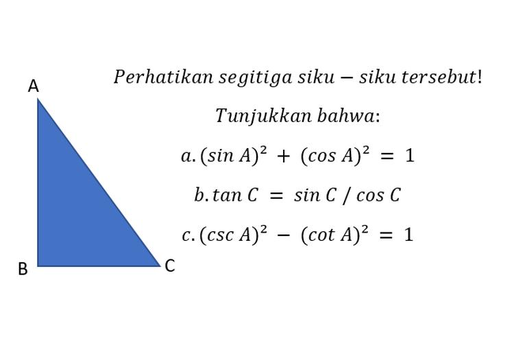 Sebuah contoh soal trigonometri.