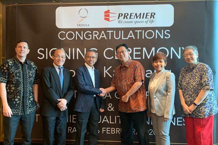PT Premier Qualitas Indonesia dan Trisula Group sepakat bekerja sama mengembangkan perumahan senilai Rp 1 triliun. Kesepakatan kerja sama dilakukan pada Rabu (26/2/2020).