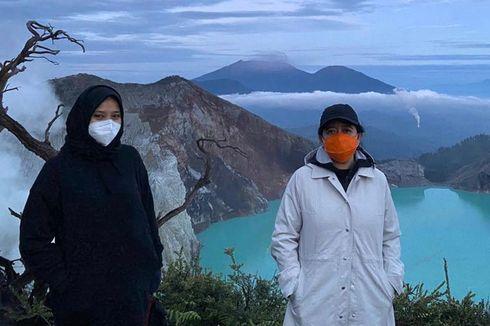 Mendaki Gunung Ijen dengan Bupati Banyuwangi, Puan: Keren Banget...