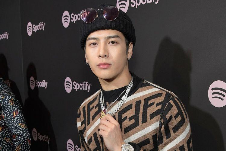 Member boyband GOT7 Jackson Wang menghadiri acara Spotify Best New Artist 2019 di Hammer Museum, Los Angeles, California, pada 7 Februari 2019.