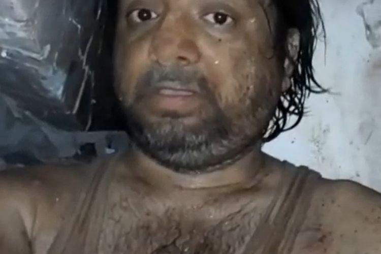 Khalid Khan (42) pria India yang membuat video kata-kata terakhir untuk istrinya, saat 10 jam terjebak di reruntuhan bangunan di Mumbai.