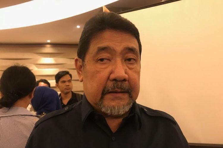 Anggota Panitia Seleksi (Pansel) Calon Pimpinan Komisi Pemberantasan Korupsi (KPK), Hendardi, ketika ditemui di Hotel Ashley, Jakarta Pusat, Kamis (12/9/2019).