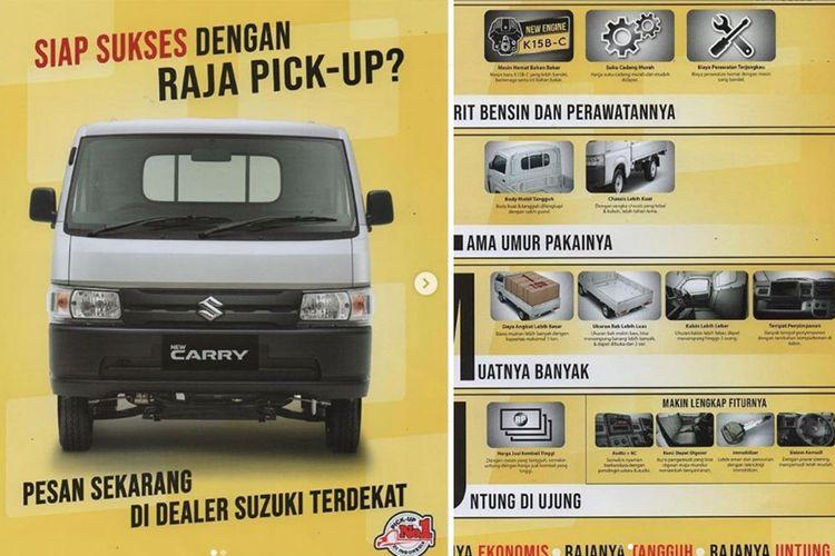 Brosur Suzuki Carry terbaru sudah tersebar di media sosial