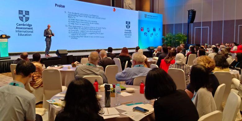 Cambridge School Conference yang digelar di Bali, 9-10 Desember 2019 dengan mengangkat tema besar Evaluating Impact: How Effective Our School and Classrom Practice.
