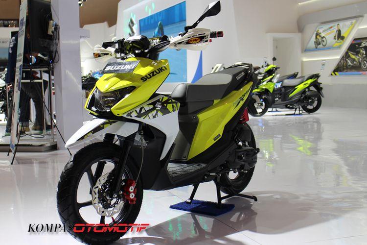 Modifikasi Suzuki NEX II bergaya adventure di IMOS 2018