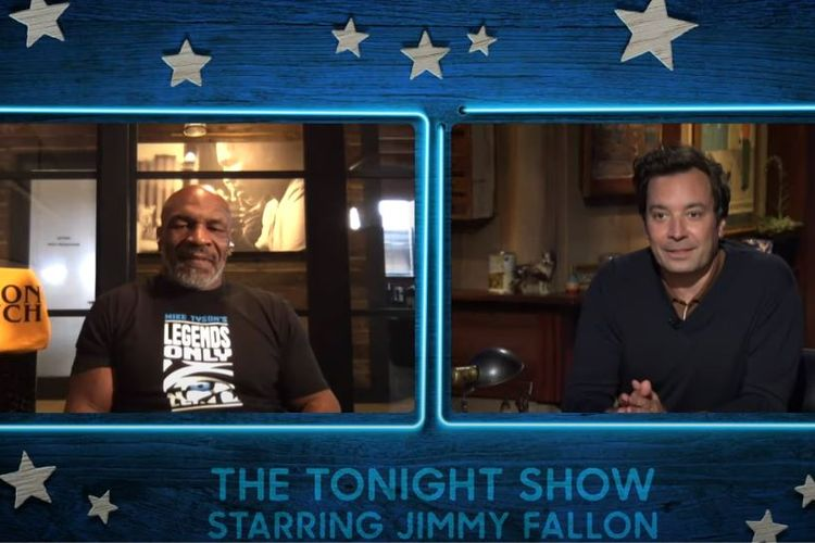 Legenda tinju dunia, Mike Tyson, tampil dalam acara The Tonight Show Starring Jimmy Fallon.