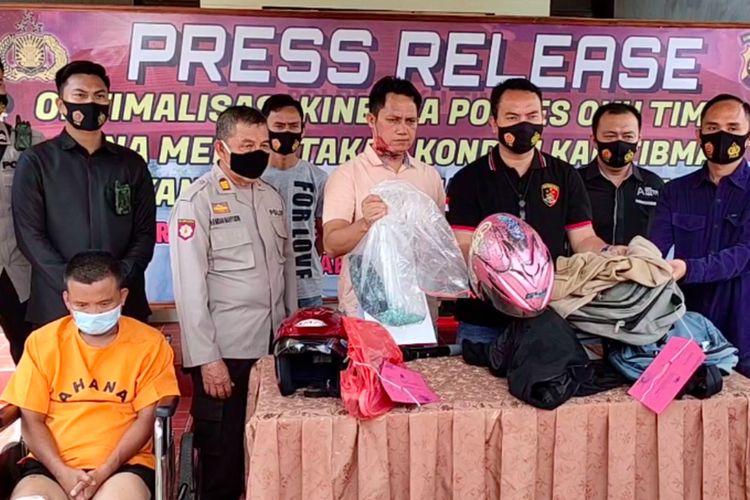 Polres OKU Timur saat melakukan gelar perkara kasus pecah paca yang melibat seorang oknum ASN di Kabupaten OKI, Sumatera Selatan, Sabtu (21/11/2020).