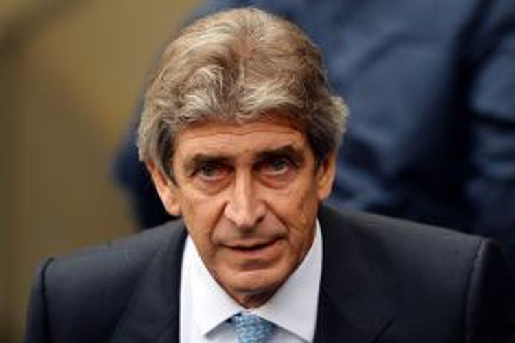 Manajer Manchester City Manuel Pellegrini.