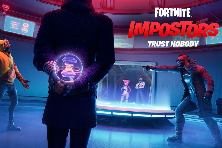 Ilustrasi mode Impostor yang hadir di game battle royale Fortnite.