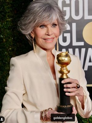 Jane Fonda hadir dalam Golden Globe 2021