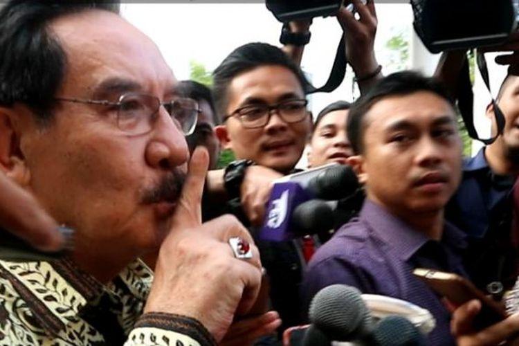 Mantan Ketua KPK Antasari Azhar usai menemui Jokowi di Istana Merdeka, Jakarta, Kamis (26/1/2017).