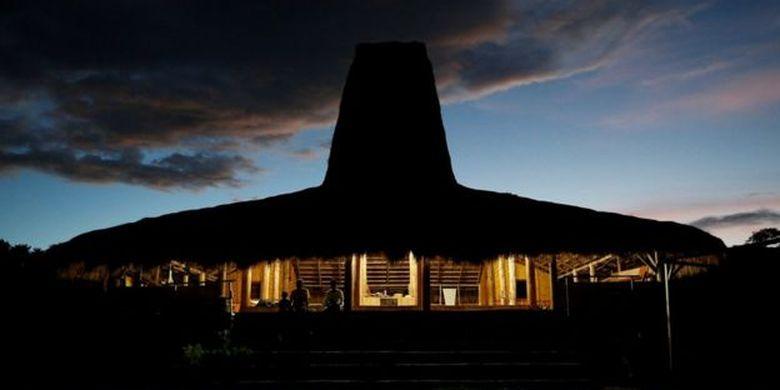Foto ilustrasi rumah adat di Sumba Timur.