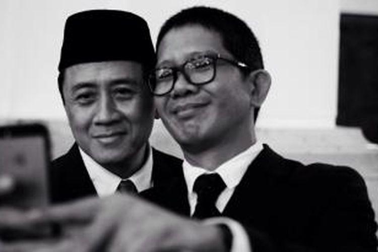 Triawan Munaf (kiri) dan Ricky Pesik