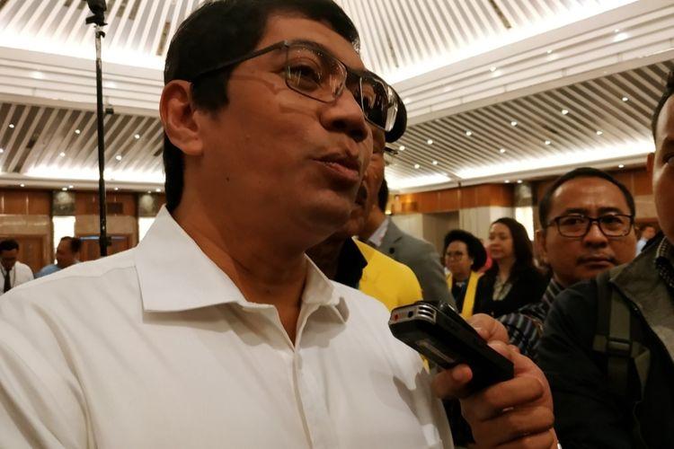 Diretur Jenderal Kekayaan Intelektual Kementerian Hukum dan HAM (Kemenkumham), Freddy Haris, di Grand Sahid Hotel, Sudirman, Jakarta, Senin (9/12/2019).