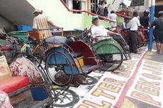 Tukang Becak di Jakarta Barat Kini Punya Selter di Pasar Pejagalan...