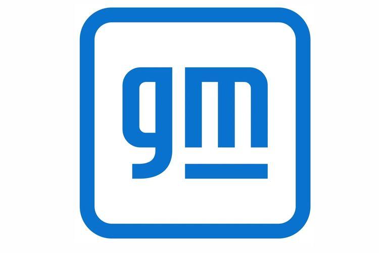 Ilustrasi logo General Motors (GM) terbaru.