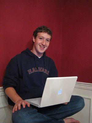 Mark Zuckerberg di asrama kampus Harvard pada 2005
