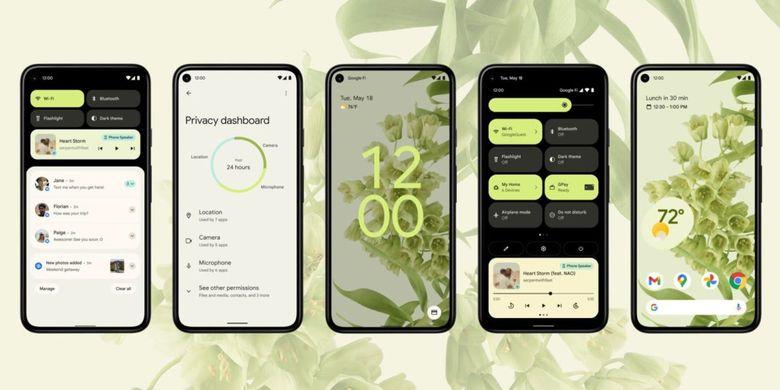 Desain baru Android 12
