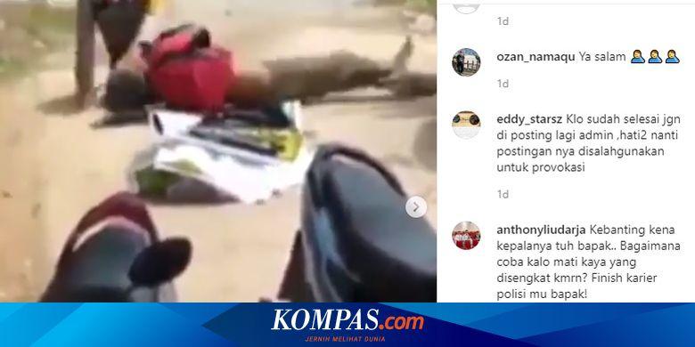 Viral, Video 2 Polisi Baku Hantam hingga Bergulat