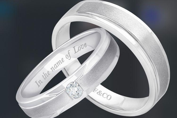 Cincin kawin berlian dari Frank & Co