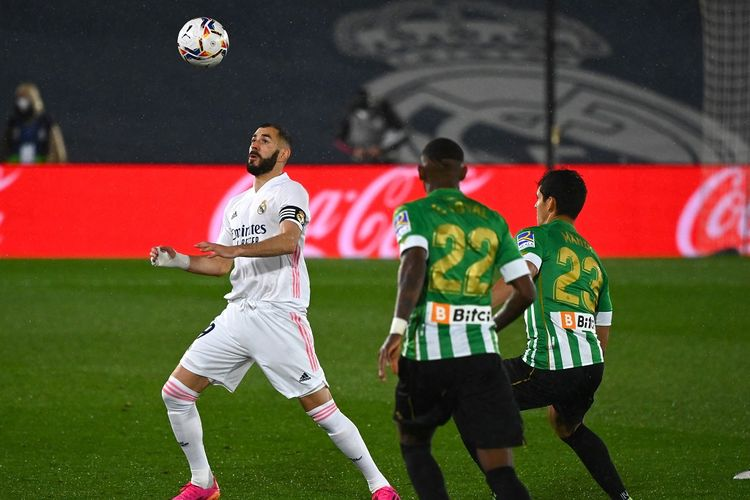 Laga Real Madrid vs Real Betis pada lanjutan pekan ke-32 LaLiga di Stadion Alfredo Di Stefano, Minggu (25/4/2021) dini hari WIB.