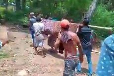 Tempuh Jalan Rusak 10 Km Menuju Puskesmas, Sri Meninggal di Atas Tandu