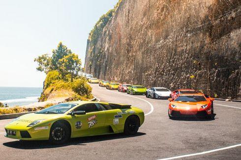 Puluhan Lamborghini Keliling Pulau Dewata