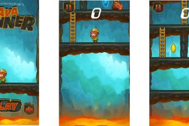 Screenshot game Lava Runner buatan pengembang Amagine Interactive asal Yogyakarta