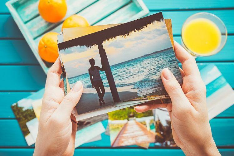 Ilustrasi foto liburan.