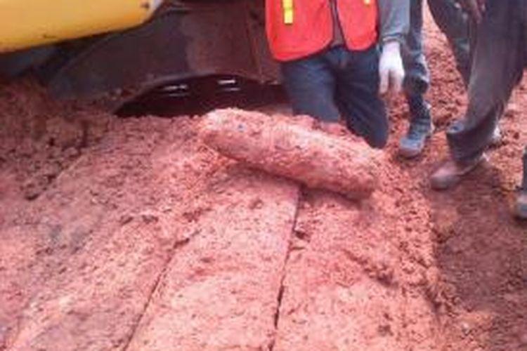 Mortir yang ditemukan di galian Stasiun MRT Sudirman