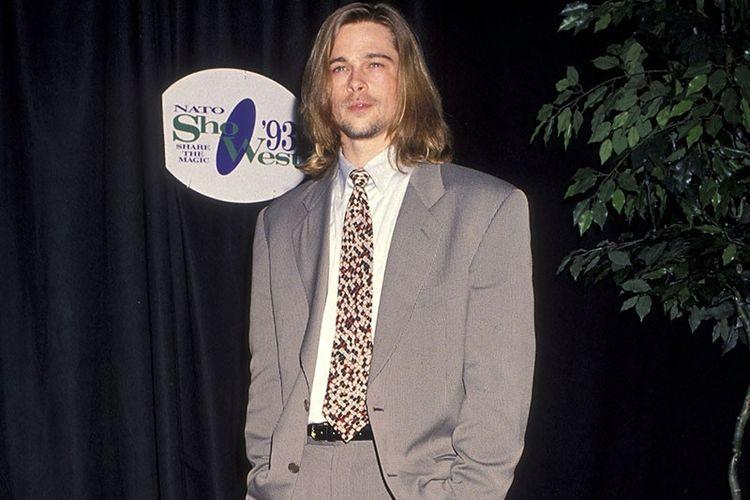 Setelan jas ala Brad Pitt yang mendobrak pakem tahun 90-an