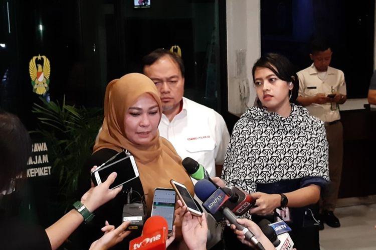 Bupati Pandeglang Irna Narulita di RSPAD, Gatot Subroto, Jakarta Selatan, Kamis (10/10/2019).