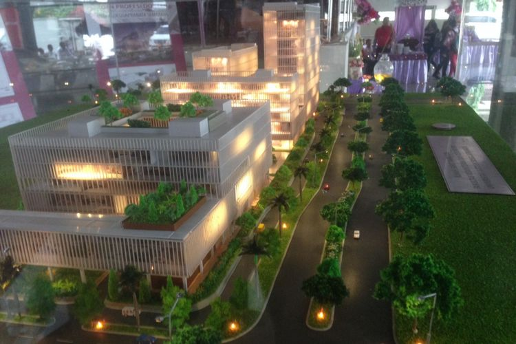 Rancangan gedung fakultas kedokteran dan rumah sakit Universitas Katolik Soegijapranata, Semarang, Jawa Tengah. Kompleks itu direncanakan mulai dibangun mulai 2019 mendatang.