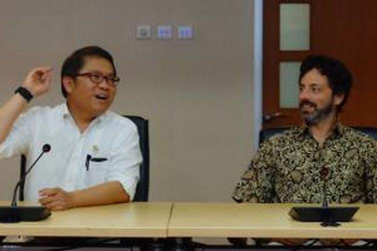 Menkominfo Rudiantara bersama Founder Google Sergey Brin