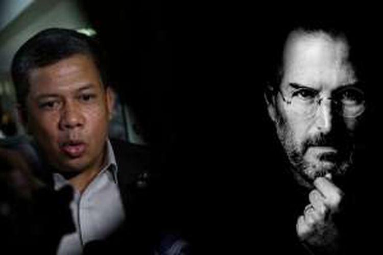 (ki-ka) Wakil Ketua DPR Fahri Hamzah; Steve Jobs