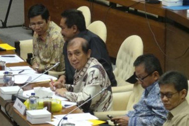 Ketua Badan Pemeriksa Keuangan (BPK) Hadi Poernomo dalam rapat konsultasi dengan Timwas Century, Rabu (3/7/2013).