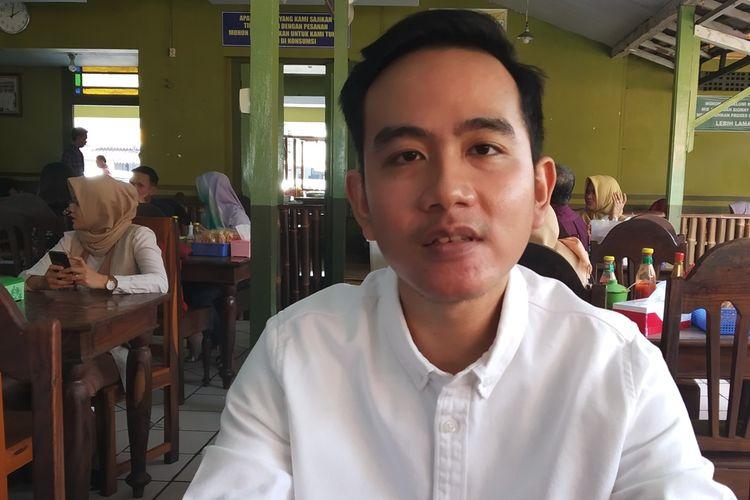 Putra sulung Presiden Jokowi, Gibran Rakabuming Raka di Solo, Jawa Tengah, Sabtu (19/10/2019).