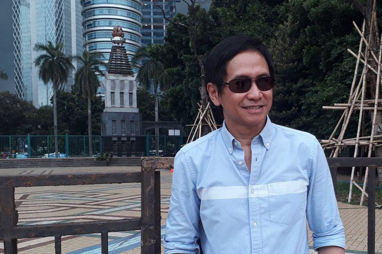 Addie MS saat ditemui dalam acara Jakarta Beragam (Jakgram) yang diadakan di Plaza Selatan Gelora Bung Karno, Jakarta Pusat, Sabtu (15/4/2017).