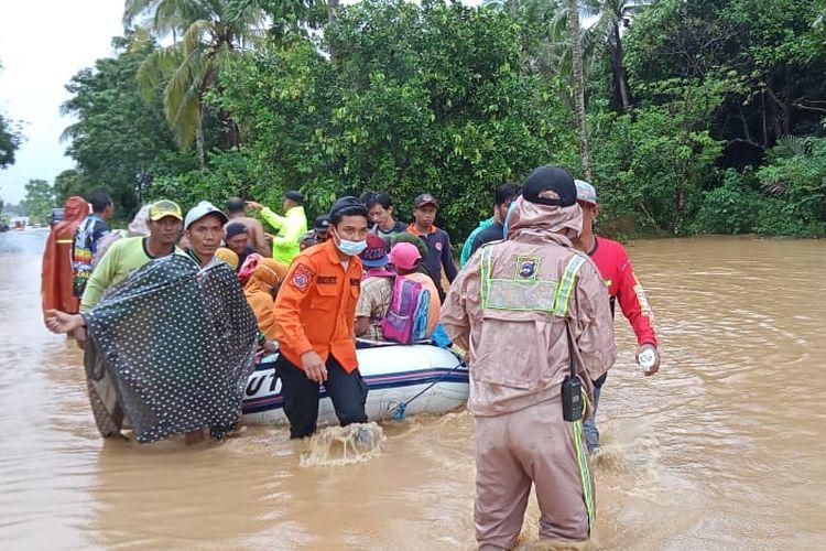Banjir Kalimantan Selatan (Kalsel) pada Jumat (15/1/2021)