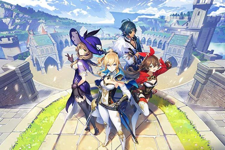 Ilustrasi poster Genshin Impact.