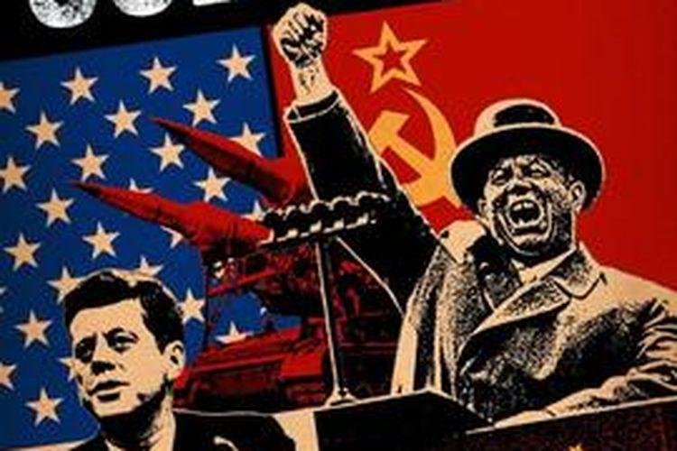 Poster serial CNN, Cold War. Tampilkan Perang Dingin AS-Rusia.