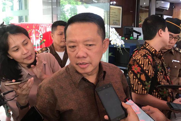 Direktur Penyidikan pada Jaksa Agung Muda Bidang Tindak Pidana Khusus Kejagung Febrie Adriansyah di Gedung Bundar, Kompleks Kejagung, Jakarta Selatan, Jumat (31/1/2020).