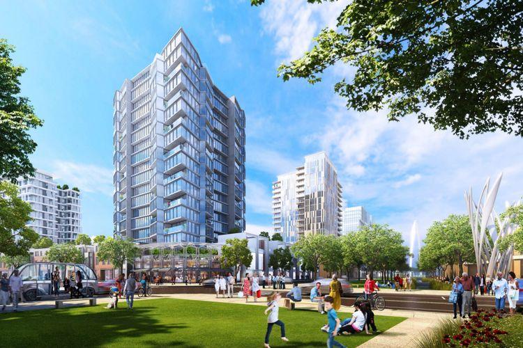 Rancangan kota cerdas yang akan dibangun di selatan wilayah Boston.